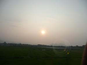 サンライズ瀬戸号からの日の出